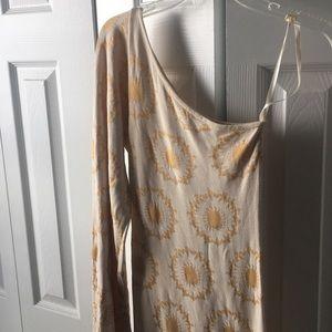 One shoulder bell sleeve dress